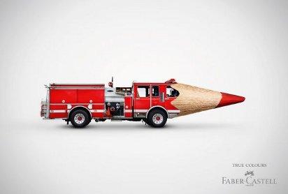 Реклама карандашей: Пожарная машина