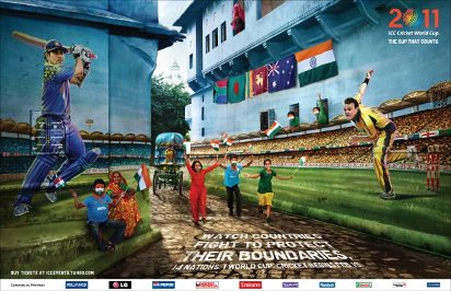 Реклама ЧМ по креикету 2011