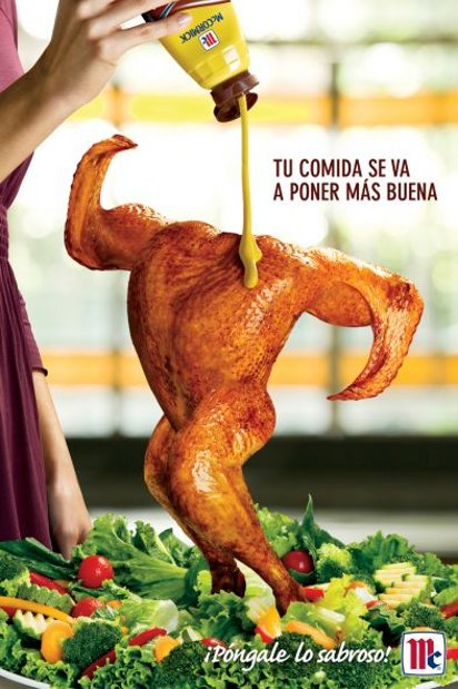 креативная реклама соуса для еды