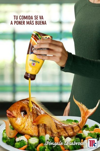 Реклама соуса для еды