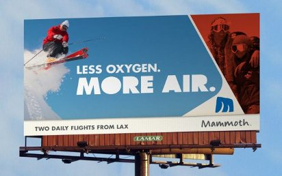 Билборд с рекламой горнолыжного курорта
