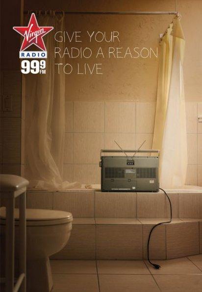 Реклама радиоволны Virgin