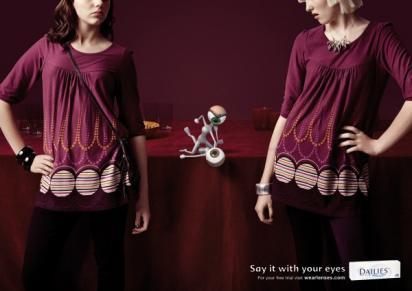 Креативная реклама капель для глаз