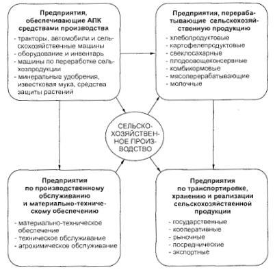 Сферы деятельности АПК