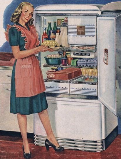 Старая Реклама холодильника
