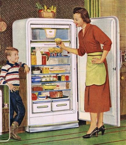 Старая модель холодильника