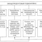 Состав овощепродуктового подкомплекса и его структура