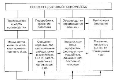 Структура овощного подкомлекса