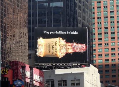 Яркий билборд Makers Mark