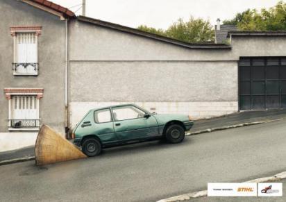 Гениальная реклама бенхопилы - Что бы не скатилась