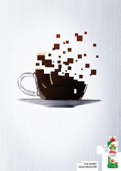 Отстирает кофе
