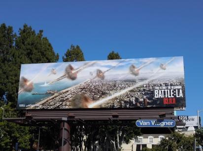 Билборд Инопланетное вторжение: Битва за Лос-Анджелес»