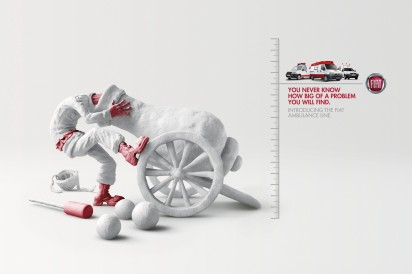 Креативная реклама автомобилей скорой помощи