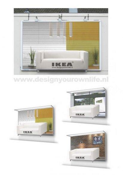 Билборд с рекламой мебели IKEA