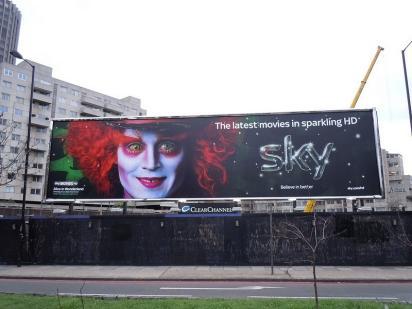 Джонни Депп на билборде