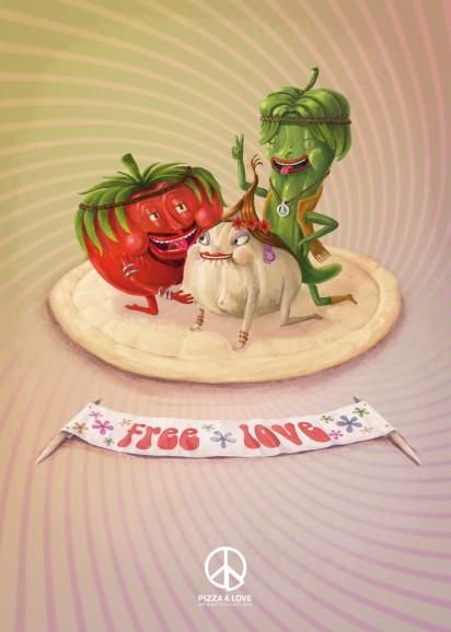 Сексуальная реклама пиццы
