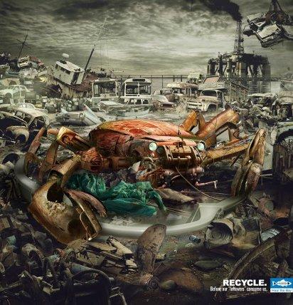 Реклама переработки мусора