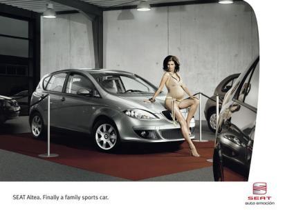 Реклама семейного спортивного Сеата