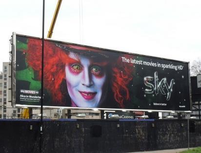 Джонни Депп рекламирует телеканал Sky