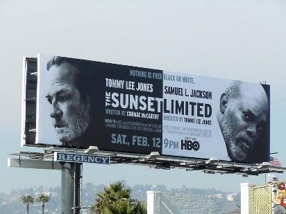 Чёрно-белый билборд The Sunset Limited