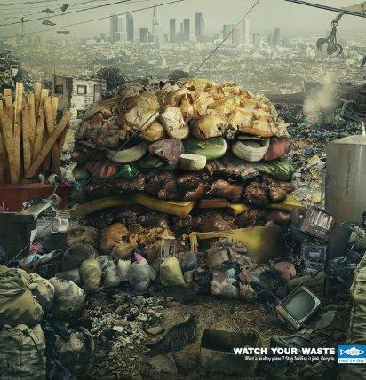 Реклама за переработку мусора