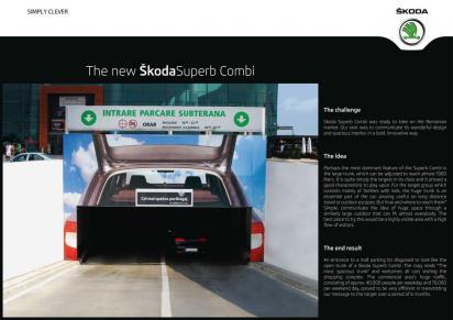 Креативная реклама автомобиля Skoda