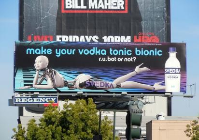 Билборд с рекламой водки
