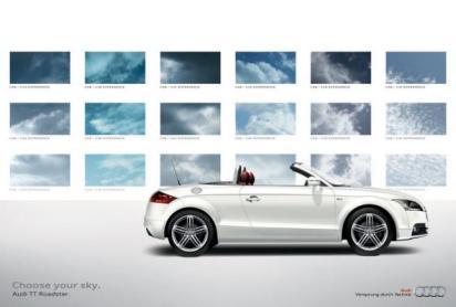 Реклама кабриолета Audi TT