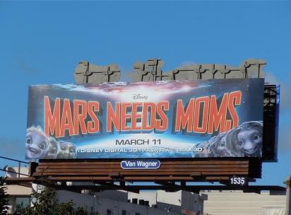 Билборд мультика Mars Needs Moms