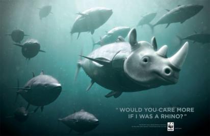 Реклама с носорогом