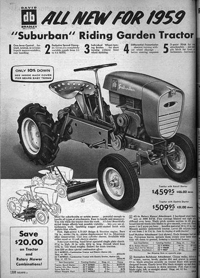 Старая реклама минитрактора