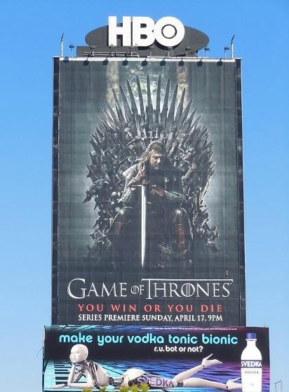 Большой билборд «Игра престолов»