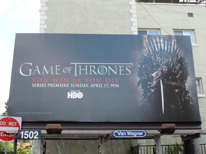 Билборд сериала «Игра престолов»