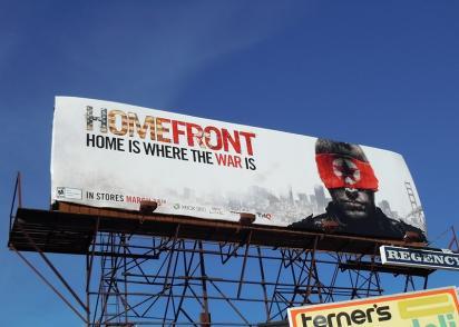 Реклама Homefront на билборде