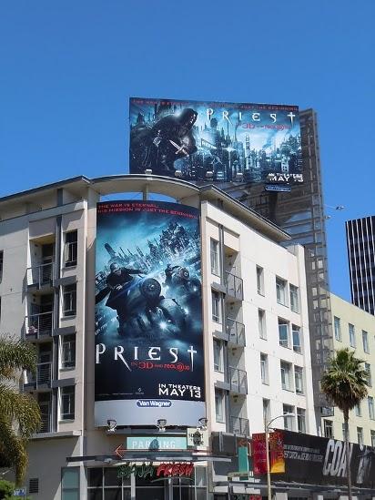 Огромный билборд фильма Priest