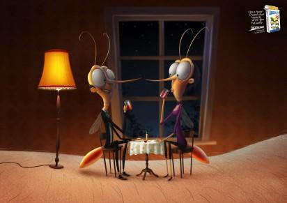 Реклама против комаров