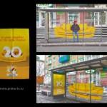 Креативная #reklama №1k428 — Реклама телеканала СТС на остановке: 20 лет вместе