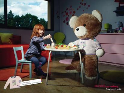 Реклама детской одежды с удобным воротником