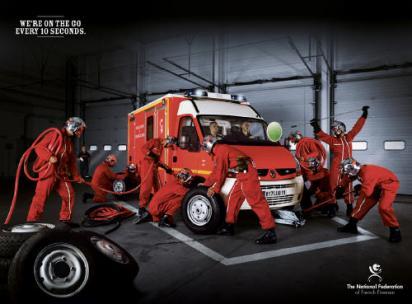 Реклама пожарных