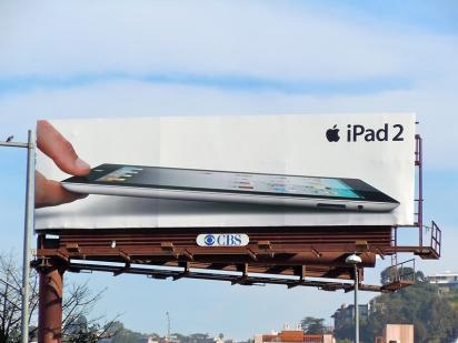 Яркий Билборд Apple iPad 2