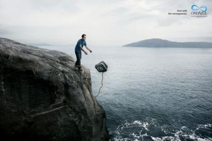 Реклама против загрязнения воды