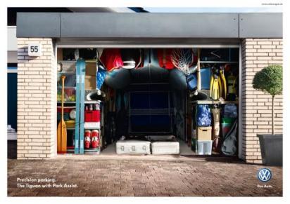 Реклама автоматической парковки Volkswagen