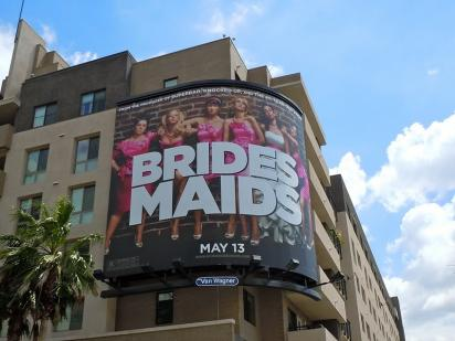Билборд Bridesmaids на здании