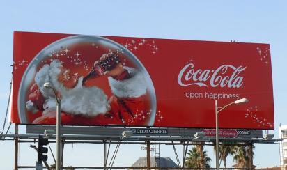 Красивый билборд Coca-Cola