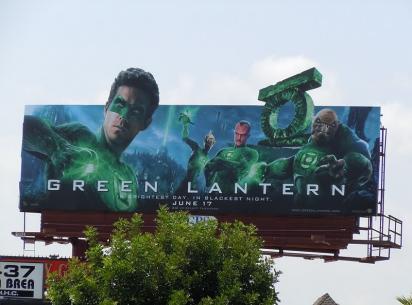 Билборд фильма Зелёный фонарь