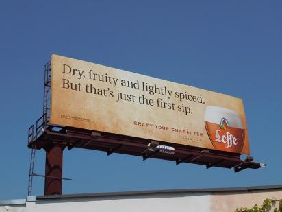 Рекламный щит с рекламой пива