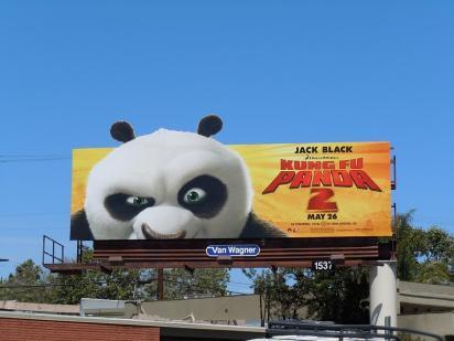 Рекламный щит Кунг-фу Панда 2