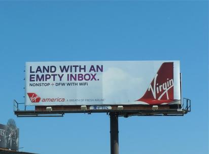 Рекламный щит Virgin
