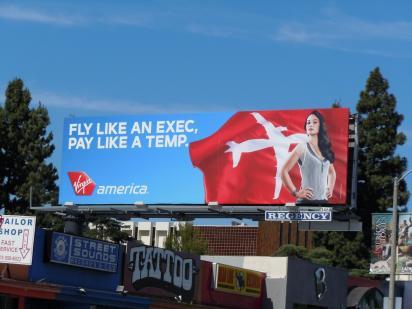 Билборд авиакомпании Virgin