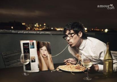 Креативная реклама сайта знакомств